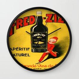 Vintage poster - Fred-Zizi Aperitif Wall Clock