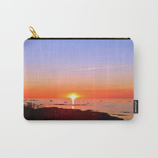 Kayak Silhouette at Sunset Carry-All Pouch
