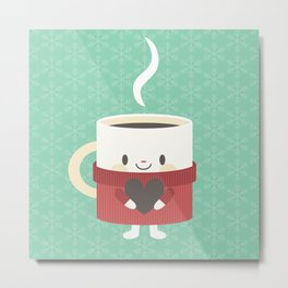 A cute cup of hot cocoa or coffee Metal Print