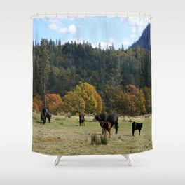 Out on the range... Shower Curtain