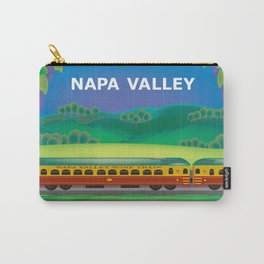 Napa Valley, California - Skyline Illustration by Loose Petals Carry-All Pouch