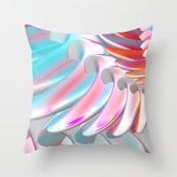 angel wings Throw Pillows featuring Angel Wings by ArtPrints