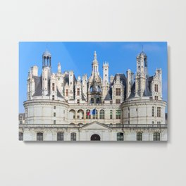 Chateau de Chambord in the Loire Valley - France Metal Print