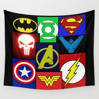 logo Wall Tapestries featuring Logo Panel by Beastie Toyz