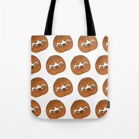 sloths Tote Bags featuring So Many Sloths by tripinmidair