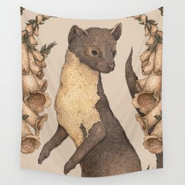 The Marten and Foxglove Wall Tapestry
