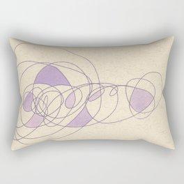 Purple Puff Rectangular Pillow