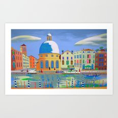 Ordinary Day In Venice Art Print