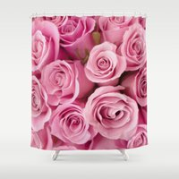 oil Shower Curtains featuring Oil Roses by Crazy Cool Animals