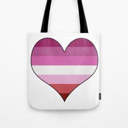 Lesbian Heart Tote Bag