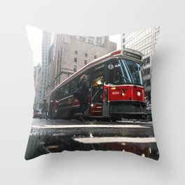 Classic Toronto Streetcar Throw Pillow