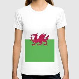 Wales flag emblem T-shirt