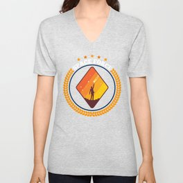Space Force Mission Badge USSF, United States Space Force Unisex V-Neck