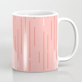 Living Coral Stripes Coffee Mug