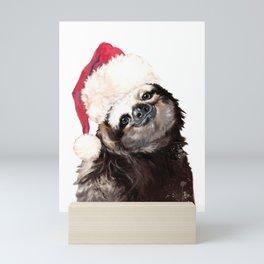 Christmas Sloth Mini Art Print