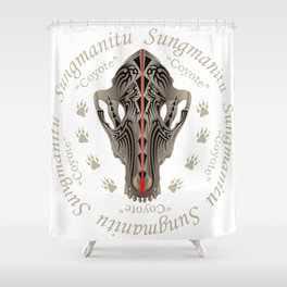 Coyote Skull G Shower Curtain