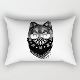 Animal Bandits - Wolf Rectangular Pillow