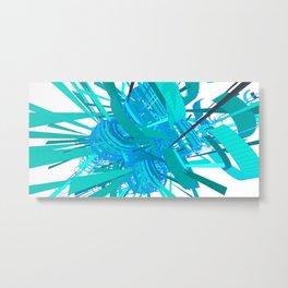 Generative Geometric Patterns Metal Print