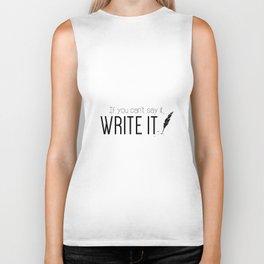 Writing urges #2 Biker Tank