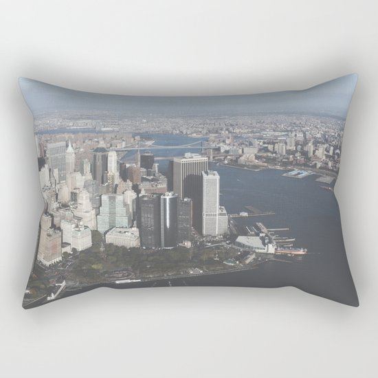 NYC Downtown Aerial Rectangular Pillow