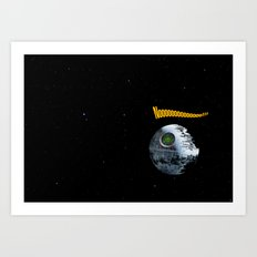 Red ring of Death Star Art Print