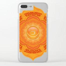 Sacral Mandala Chakra #05 Clear iPhone Case