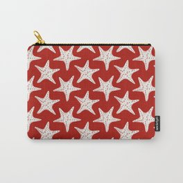 Maritime Red & White Starfish Pattern - Mix & Match with Simplicity of Life Carry-All Pouch