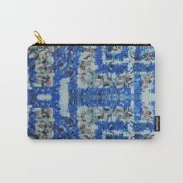 Abstract anarchism blue pattern Carry-All Pouch
