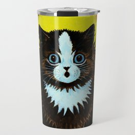 "Louis Wain's Cats ""Psychedelic Rainbow Cat"" Travel Mug"