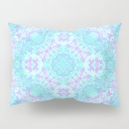 Cyan, Turquoise, and Purple Pillow Sham