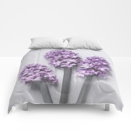 Three Light Purple Hyacinths Comforters