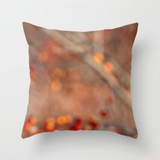 Winter Berries - Abstract Throw Pillow