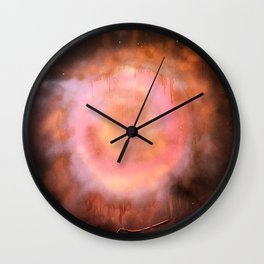 PINK GALAXY Wall Clock