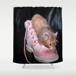 The Old Hamster in the Shoe Shower Curtain