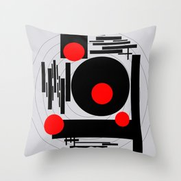 Optical Red Throw Pillow
