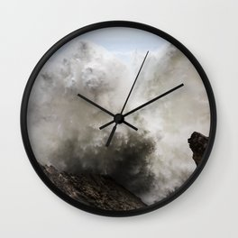 Exploding Waves Wall Clock