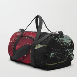 Grunge red rose Duffle Bag