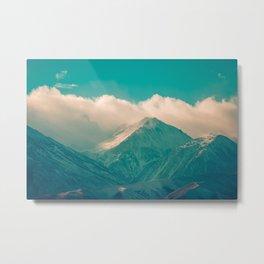 Snow covered mountains. USA Metal Print