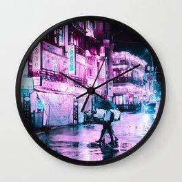 Cyberpunk Seoul Wall Clock