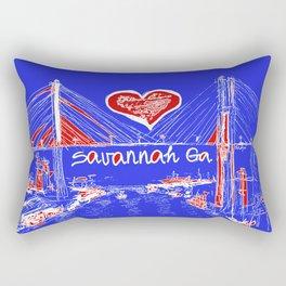 I love Savannah blu Rectangular Pillow