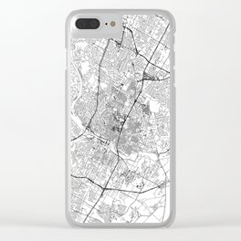 Austin White Map Clear iPhone Case