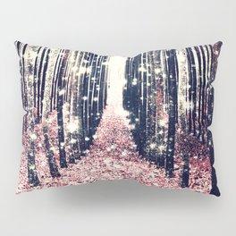 Magical Forest Millennial Pink Pewter Elegance Pillow Sham