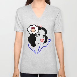 Snow White dreaming beauty Unisex V-Neck