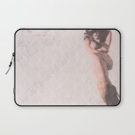 Reclining Lace Nude Laptop Sleeve