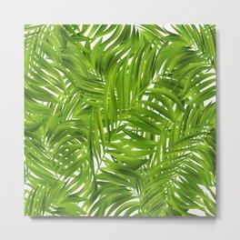 Tropical Palms Pattern Metal Print