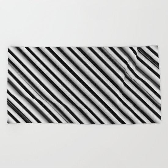 Black and White 2 Beach Towel