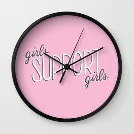 Girls Support Girls Wall Clock