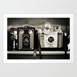 A pair of Kodak Brownies Art Print