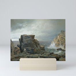 A Rocky Coast by William Trost Richards, 1877   Mini Art Print