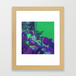 Hollowlove I Love My Computer Framed Art Print